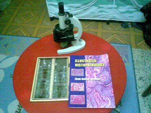 about 70 microscopic slides that we gonna study them by heart..